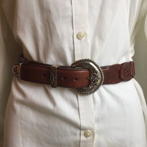 Accessories - BOHO STYLE BROWN WITH SILVER TONE HARDWARE BELT S